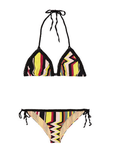Crochet Trimmed Printed Bikini, M Missoni