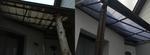 Hohlkammerplatten Austausch vor- und nachher