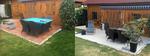 Terrassensanierung vor- und nachher