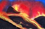 Vulkan - Pastell auf Zeichenkarton, ca. 50 x 70 cm, verkauft