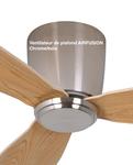 Ventilateur de plafond chêne et inox beau et durable