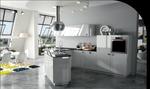 Design exceptionnel ! Contraste en le blanc brillant, le noir et l'inox.