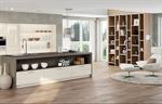 Extension de la cuisine sur le salon - Hotte fonctionnelle et décorative.