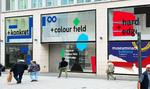 Die Fassade der Ausstellung + konkret + colour field + hard edge + n°6