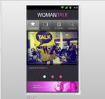 women talk app interface design on andriod 001
