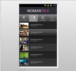 women talk app interface design on andriod 002