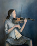 THE VIOLINIST I  - Oil on canvas - 100x82cm - 2019