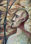 THE HUNTER - Oil on canvas - 46x33cm - 2019