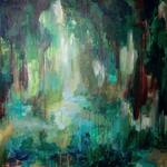 Mangroven, 90 x 90 cm, Acryl auf Leinwand, 2014.   /verkauft/