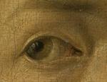 Détail de l'autoportrait d'Albrecht Dürer1498, musée du Prado, Madrid,