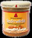 Vegetarischer Bio Brotaufstrich mit Gemüse und Weizeneiweiß - pur aufs Brot oder schichtweise mit einem Salatblatt, Tomate, Gurke oder Tofu entsteht ein kleines essbares Kunstwerk