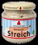 Veganer Bio Brotaufstrich aus Sonnenblumenkernen mit Bärlauch - pur auf Brot oder mit Joghurt vermischt als Dip oder Dressing