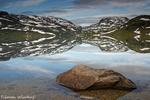 Typische Landschaft auf dem Haukelifjell / Typisk landskap på Haukelifjell