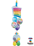 Balloon-Bouquet: Rainbow Cake & Bubble ca. 2m hoch - € 49,90