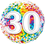 "30 Rainbow Confetti 18"" - € 5,90"