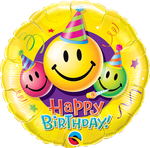 "Birthday Smiley Faces 18"" - € 5,90"