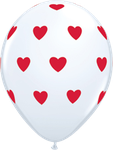 "Latexballon ""Big Hearts"" weiß, 35cm  -  € 1,80"