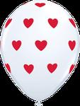 "Latexballon ""Big Hearts"" weiß, 35cm  -  € 1,80"