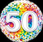 "50 Rainbow Confetti 18"" - € 5,90"