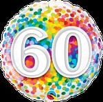 "60 Rainbow Confetti 18"" - € 5,90"