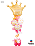 Balloon Bouquet Special: Golden Crown BD & Swirls ca. 2,00m - € 49,90