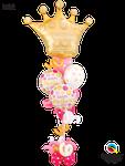 Balloon Bouquet Special: Golden Crown BD & Swirls ca. 2,00m - € 49,90