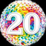 "20 Rainbow Confetti 18"" - € 5,90"