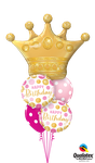Balloon Bouquet: Golden Crown BD Pink & Gold ca. 1,80m - € 36,90