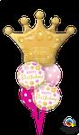 Balloon Bouquet: Golden Crown BD Pink & Gold ca. 1,80m - € 36,90