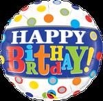 "Birthday Band & Dots 18"" - € 5,90"