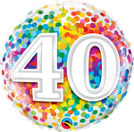 "40 Rainbow Confetti 18"" - € 5,90"