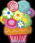 """Floral Circles Bouquet 34"""" - € 12,90"""