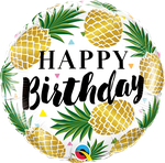 "Birtday Golden Pinapples 18"" - € 5,90"