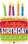"Birthday Cake & Candles 35"" - € 12,90"