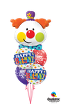 Balloon-Bouquet: Cute Clown Happy Birthday ca. 1,80m - € 34,90