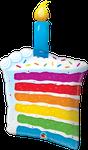 """Rainbow Cake & Candle 42"""" - € 12,90"""