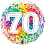 "70 Rainbow Confetti 18"" - € 5,90"
