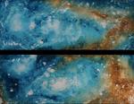 Sternenmeer, 2x 80cm x 30cm (80cm x 60cm)