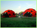 Deux autres montgolfières en gonflerment