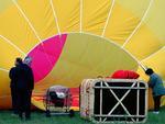 Ventilation / Gonflement de l'enveloppe de la montgolfière