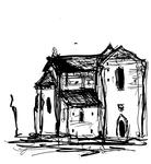 Le Bourg, prieuré roman (hors chemin, 2 km de Lacapelle Marival)