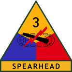 "Divisionsemblem der 3rd Armored Division ""Spearhead"""