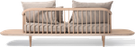 Bois: chêne blanchi huilé / Tissu: Hot Madison 094