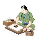 「小学道徳 生きる力」浮世絵摺師 原画 文教出版