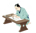 「小学道徳 生きる力」浮世絵絵師 原画 文教出版