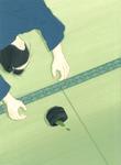 葉室麟「潮騒はるか」幻冬舎 月間ポンツーン10月号原画