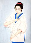 和田はつ子「お悦さん」大江戸女医なぞとき譚 幻冬舎 原画