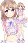 星空ひめさん(キャラデザ・モデル)衣装は星空をイメージしたグラデーションデザイン イメージカラーはピンク 胸揺れXY対応