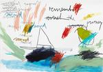 REMEMBER THE JOURNEY – SACRED, 2015, Acryl, Pastell, Kohle, Bleistift und Buntstift auf Papier, 30 x 40 cm