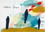 MOLEKÜLE FLIEGEN, 2015, Acryl, Pastell, Kohle, Bleistift und Buntstift auf Papier, 30 x 40 cm